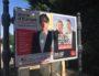 Panneau d'affichage de deux candidats à l'élection européenne - mai 2019. ©DD/Rue89Lyon