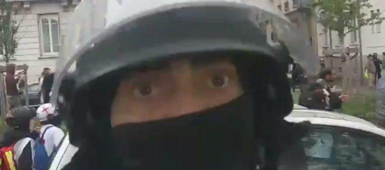 « Gilets jaunes » à Lyon : un reporter de Rue89Lyon reçoit un coup de matraque