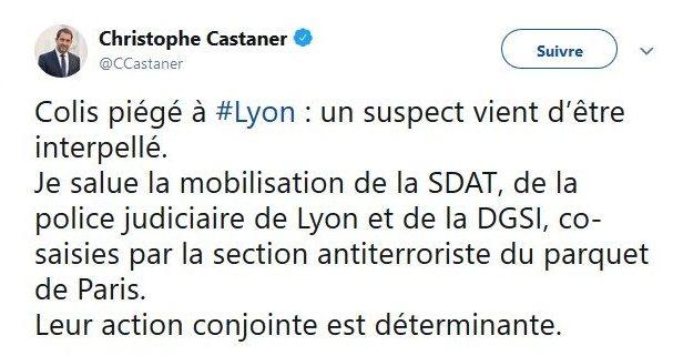 Tweet de Christophe Castaner