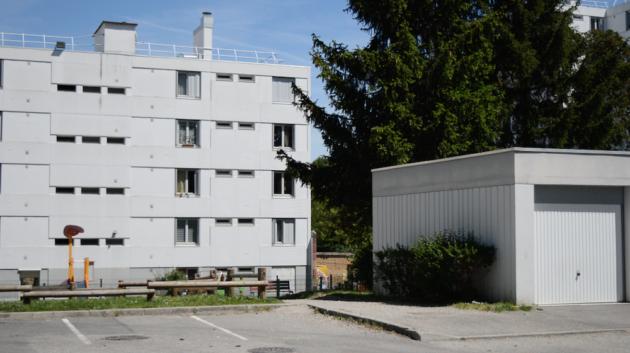 Immeuble HLM du quartier du Vergoin en mai 2019, à Lyon 9e.