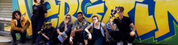 Une partie des élèves de la COP Ciné Fabrique 2018/19 en reportage au Vergoin.