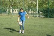 Maysa joue au club de foot l'AS Duchère. ©Cheyenne Tyrakowski/LBB