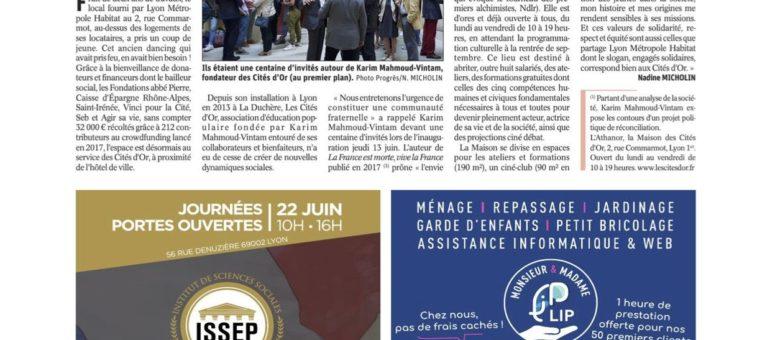 La publicité pour l'école de Marion Maréchal-Le Pen était aussi dans Le Progrès