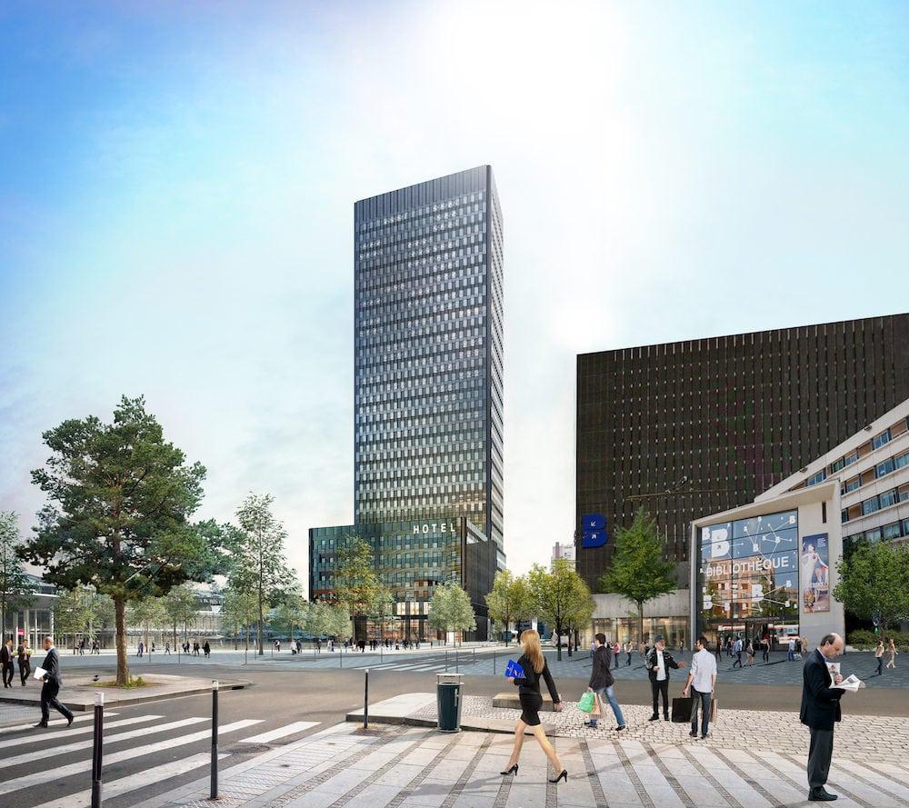 La future tour de bureaux To-Lyon dans laquelle Spaces (groupe Regus) promet d'ouvrir un espace gigantesque de 10 000 m2. ©Dominique Perrault Architecte_ArchiGraphi_Adagp
