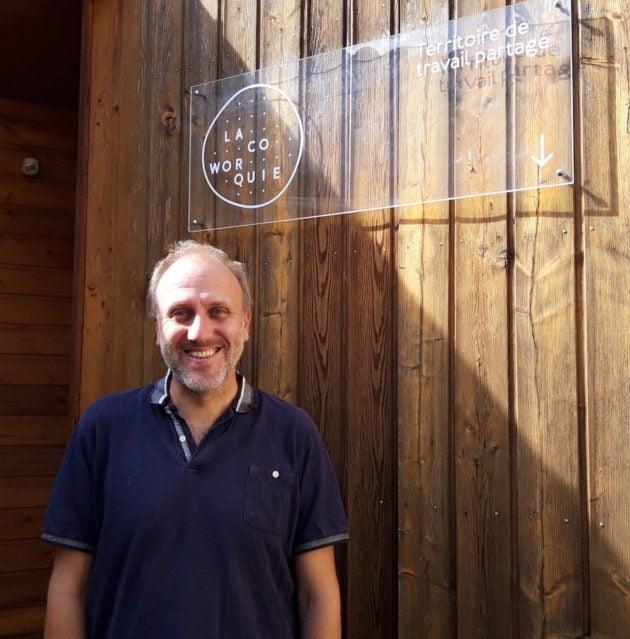 François Bourgain, le fondateur de l'espace de coworking, la Coworquie à Mornant. ©LB/Rue89Lyon