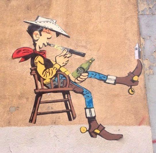 Une fresque de 2014 de Big Ben rue Sébastien Gryphe à la Guillotière ©DR