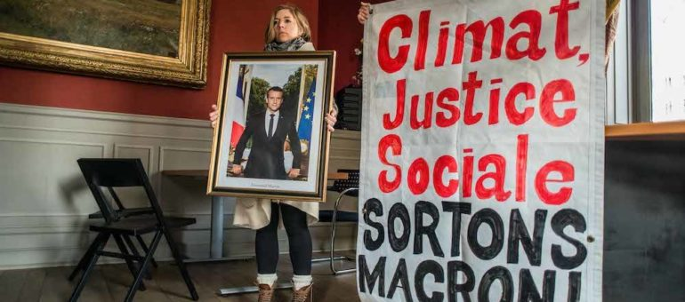 A Lyon, procès et mobilisation des décrocheurs de portraits de Macron