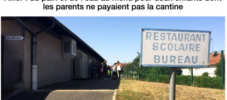 Du pain et de l'eau servis à deux écoliers parce que leurs parents ne paient pas la cantine