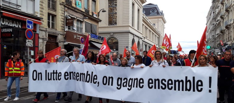A Lyon, une première petite manif contre le projet de réforme des retraites