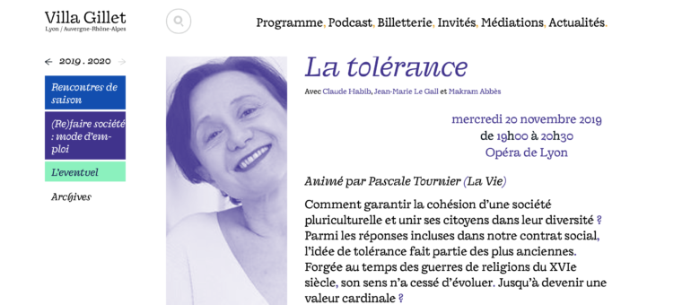 [Festival] «La tolérance, dernière des vertus de nos sociétés ?», par Claude Habib