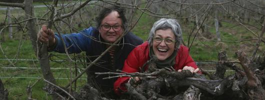 Jacques et Agnès Carroget, domaine de la Paonnerie. DR