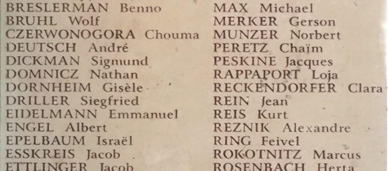 Antisémitisme : la plaque en mémoire des Juifs raflés rue Sainte-Catherine vandalisée