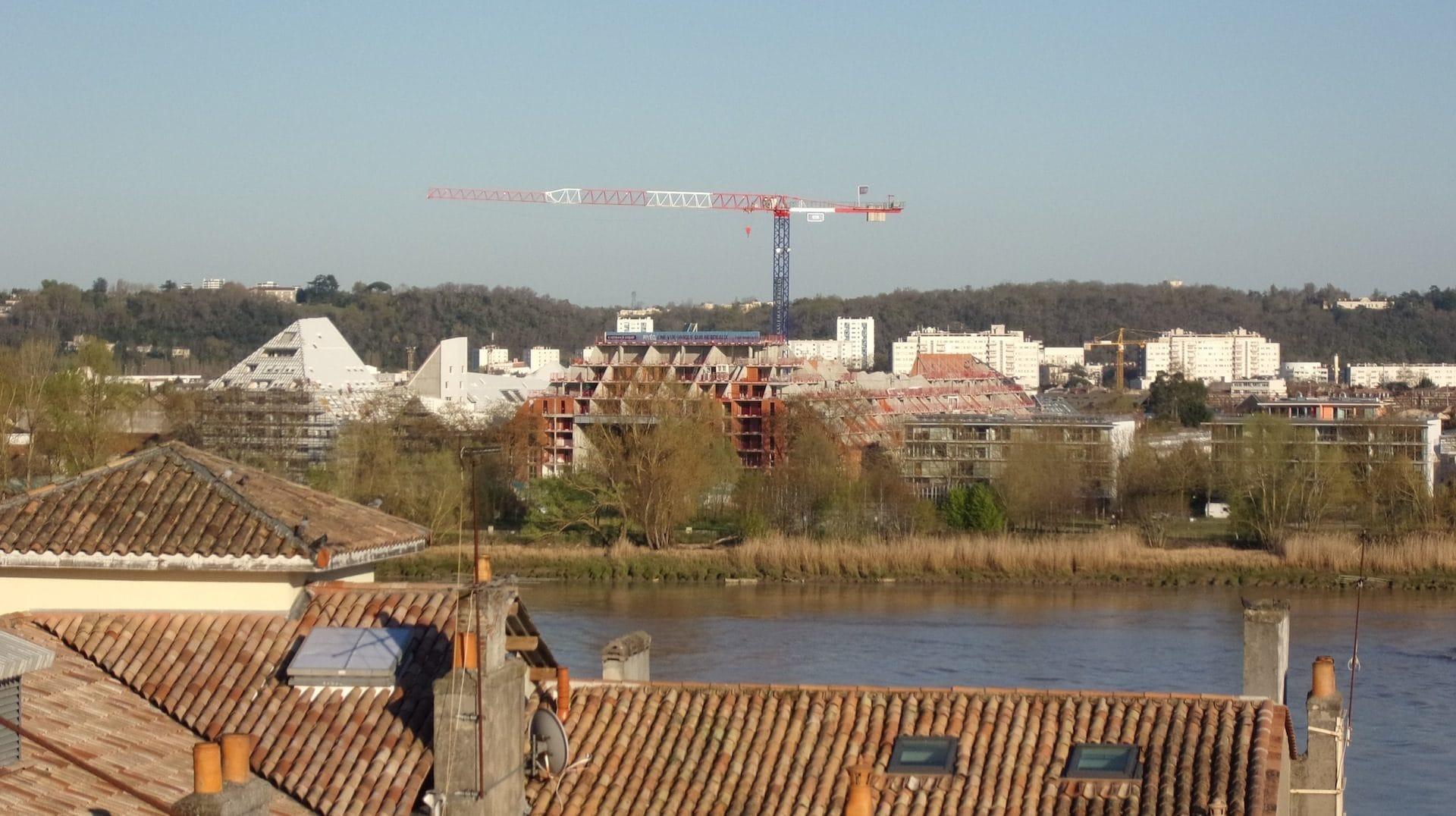 Le quartier Bastide Niel en construction ©SB/Rue89 Bordeaux