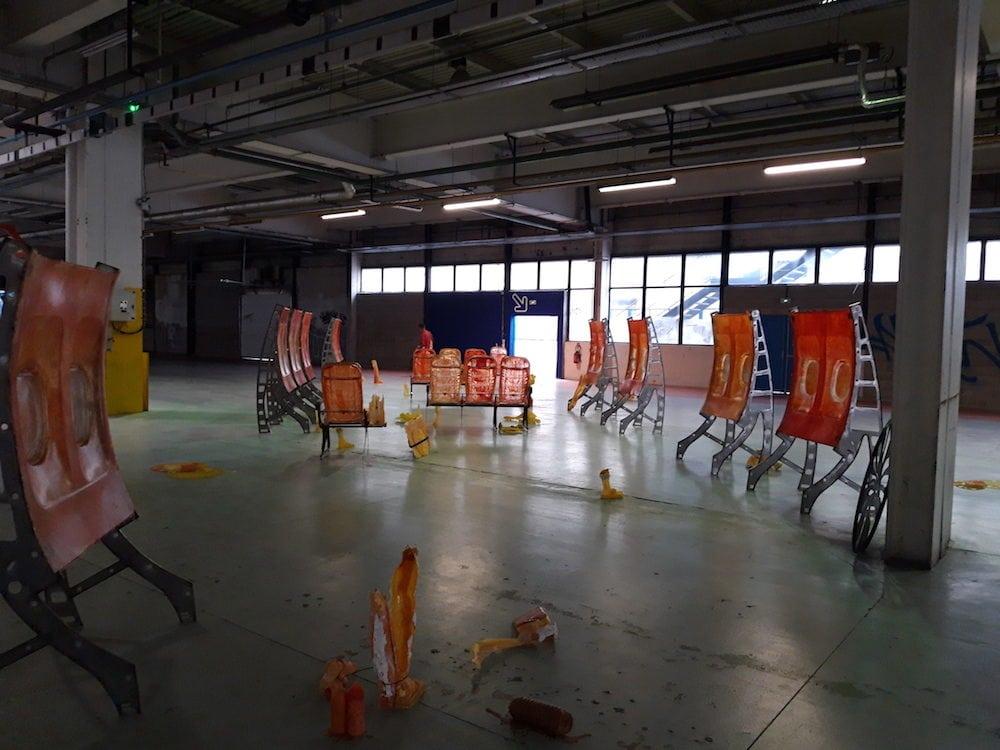 """""""Singed Lids"""" à la 15e BAC de Lyon, usines Fagor-Brandt. ©DR"""