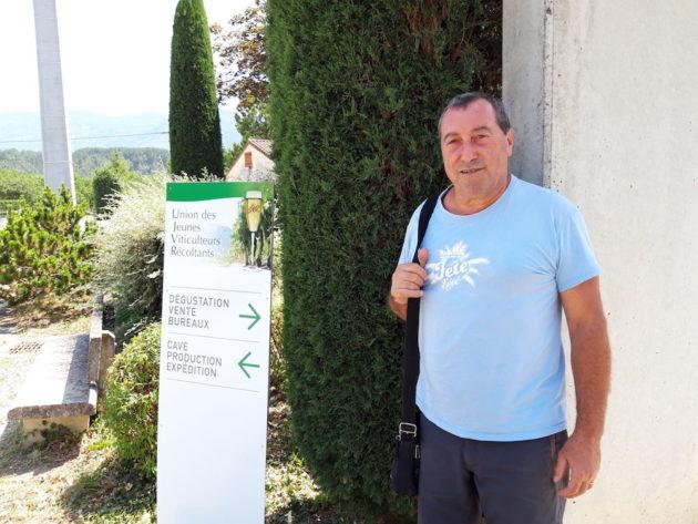 Le viticulteur Bernard Pélissier, président de l'UJVR ©LB/Rue89Lyon