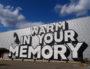 """""""Warm in your memory"""" sur la façade des usines FagorBrandt où se déroule la 15e Biennale d'art contemporain de Lyon. ©DR"""