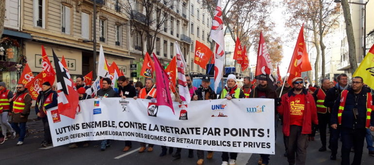 A Lyon, quatrième temps fort contre la réforme des retraites