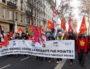 La banderole de l'intersyndicale lyonnaise contre la réforme des retraites. Ici, le 12 décembre, avenue Jean Jaurès. ©LB/Rue89Lyon