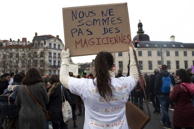 C'était la première manifestation de Camille depuis le début du mouvement contre la réforme des retraites. ©ED/Rue89Lyon
