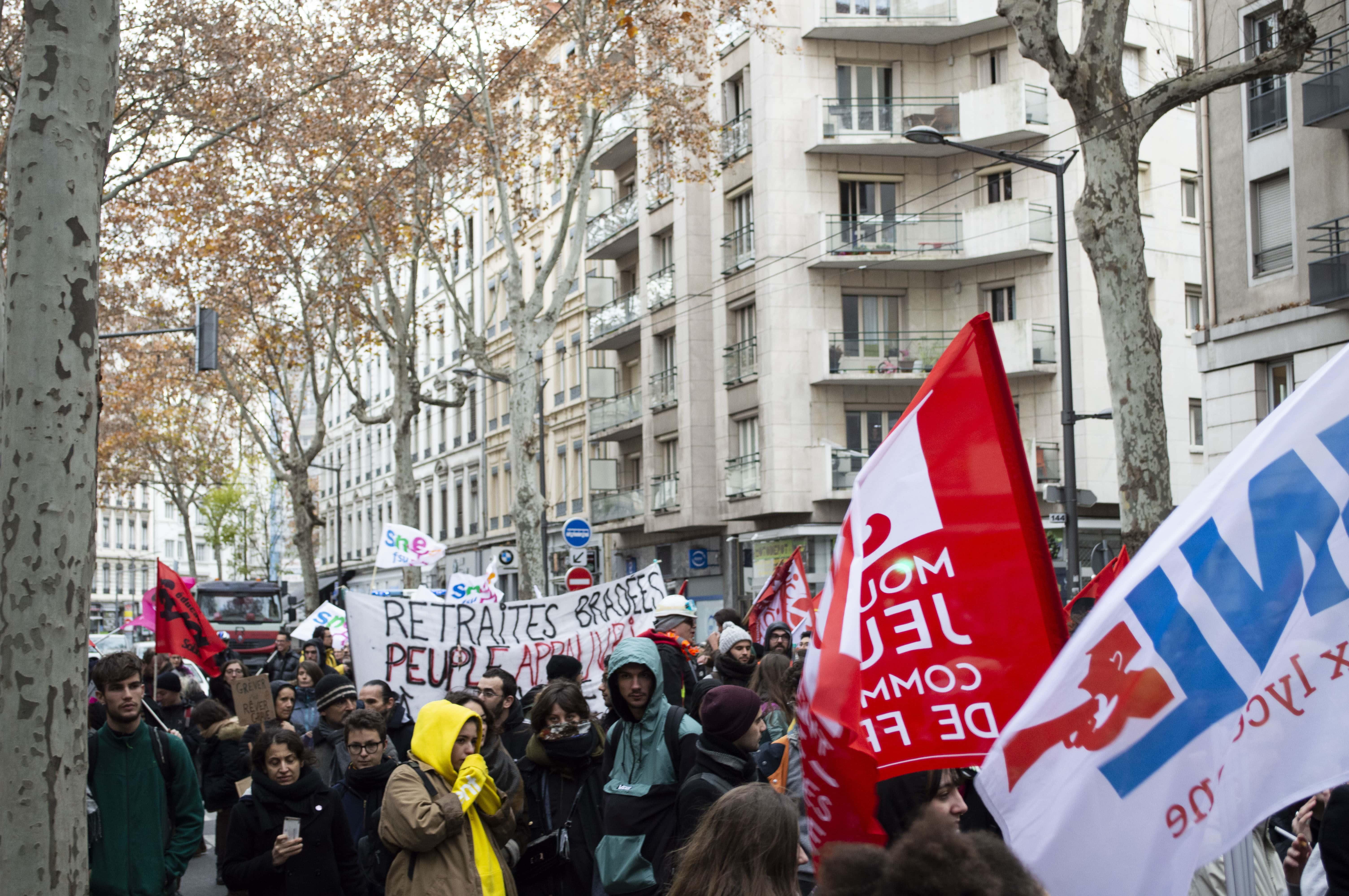 Manifestation retraites 9 décembre