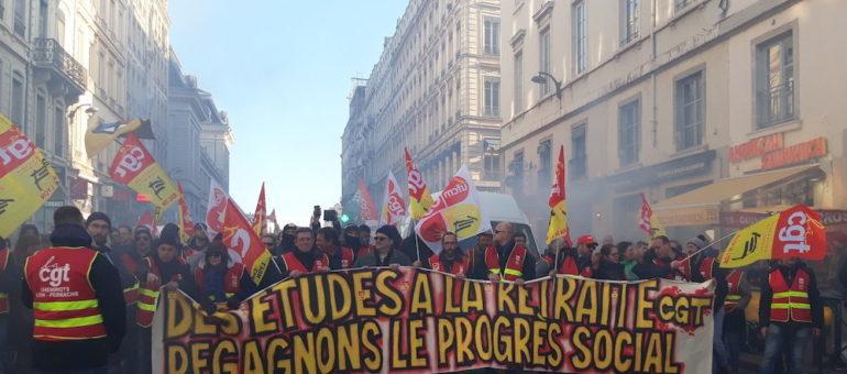 A Lyon, 2ème temps fort contre la réforme des retraites : entre 9500 et 19000 manifestants