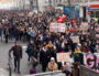 Le cortège de la manifestation du 5 décembre 2019 contre le projet de réformes des retraites à Lyon. ©LB/Rue89Lyon