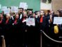 Grève des avocats au tribunal de grande instance de Lyon