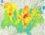Pic de pollution du 22 janvier 2020. Capture d'écran prévision Atmo Auvergne-Rhône-Alpes