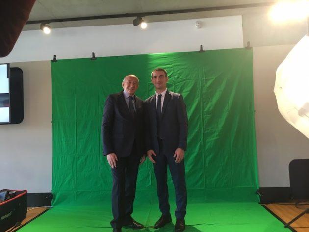 Gérard Collomb et Yann Cucherat ©Rue89Lyon