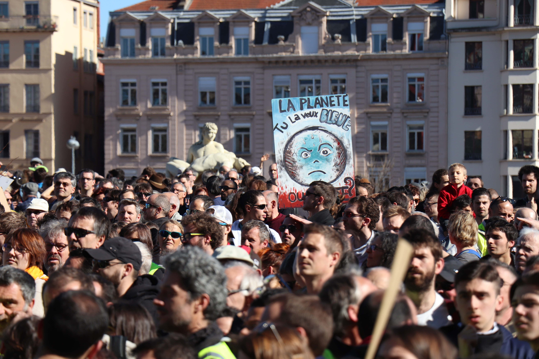 Photo de la marche pour le climat du 16 mars 2019
