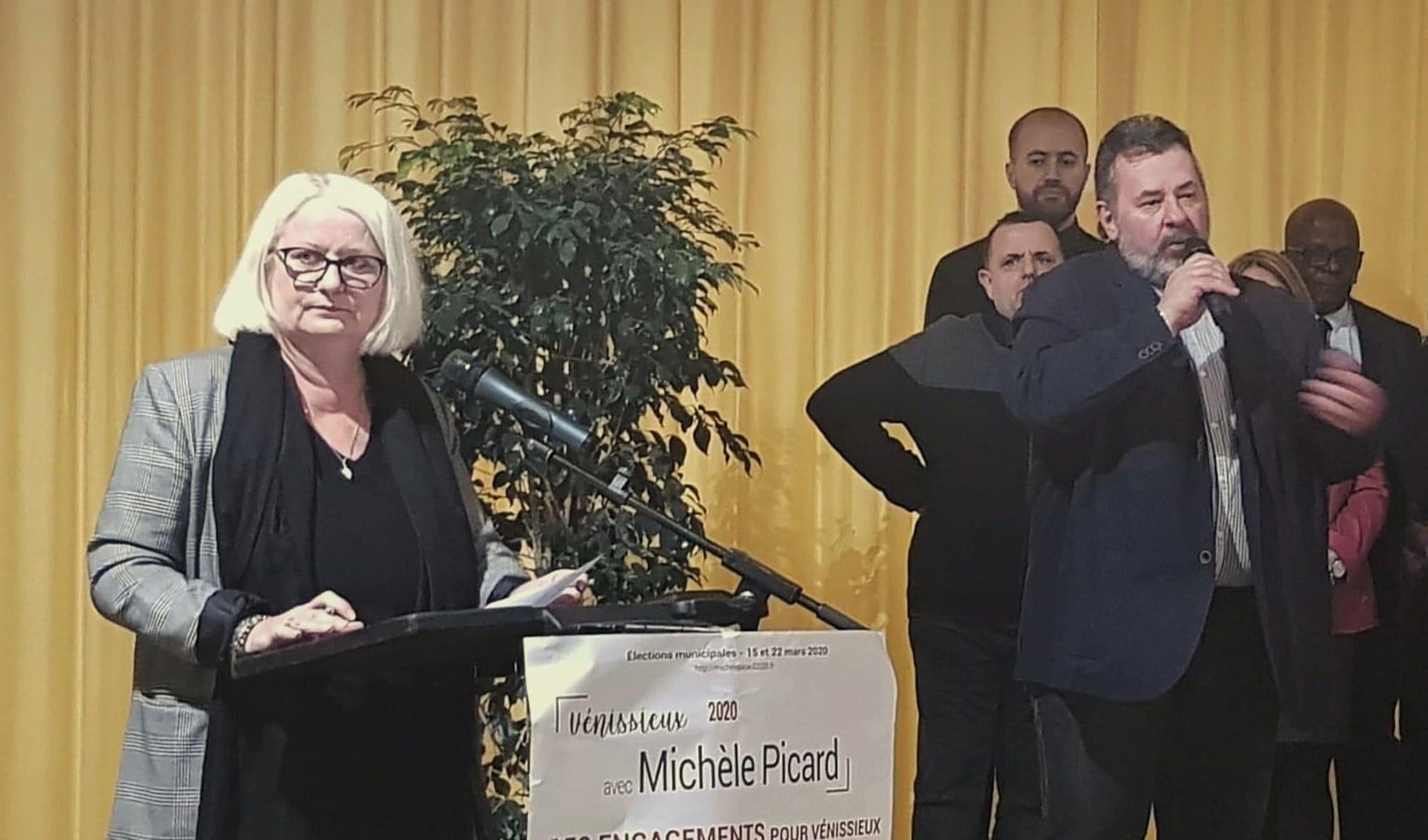 Michèle Picard durant la présentation de sa liste.