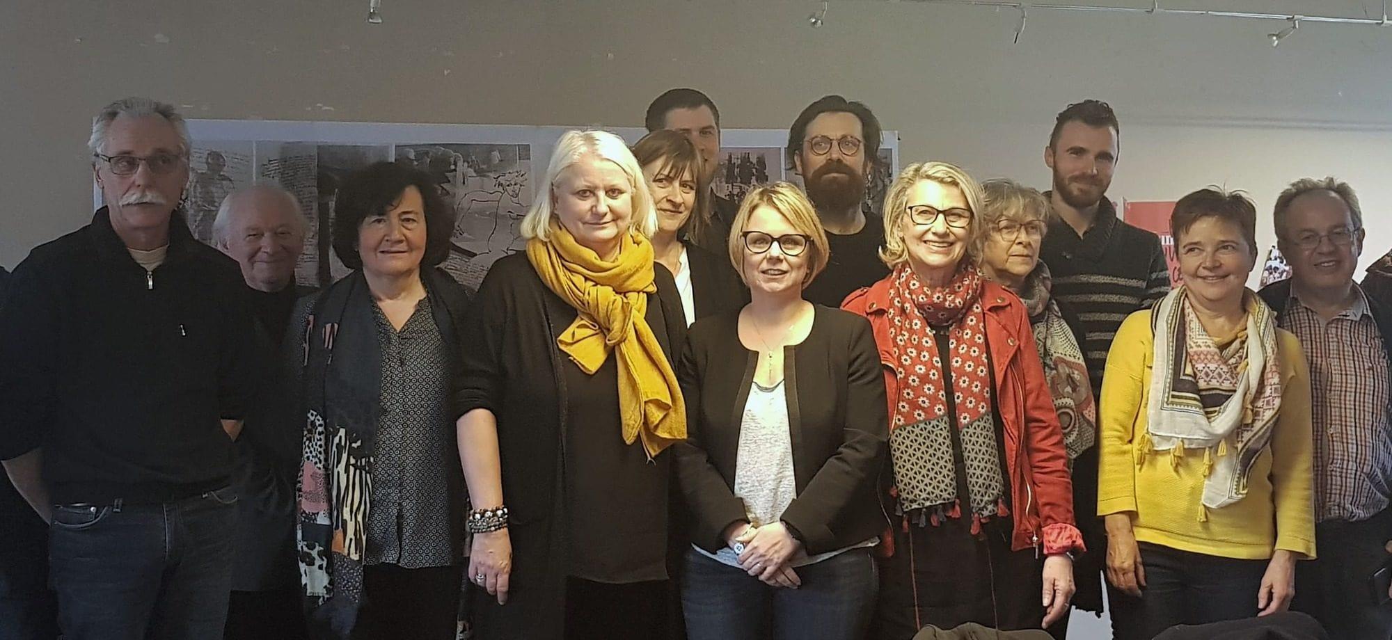 Les candidats du PCF avec la présence Cécile Cukierman