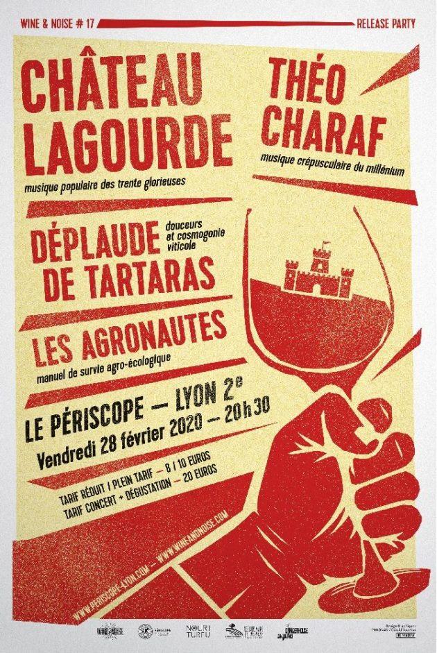 Affiche évènement Wine&Noise promouvant l'agriculture biologique