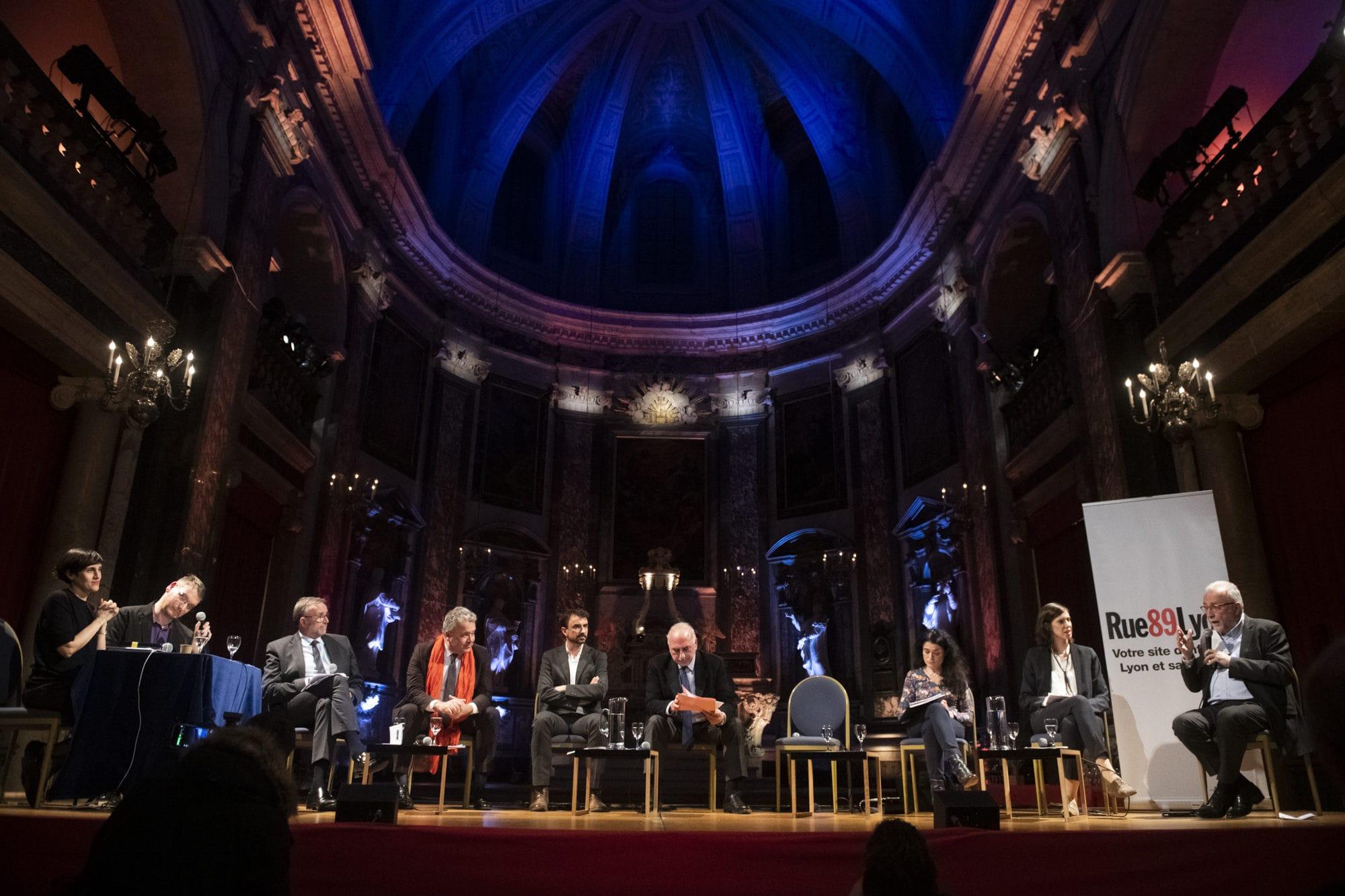 Le premier débat de cette campagne électorale organisé par Rue89Lyon et Le Petit Bulletin. ©Houcine Haddouche