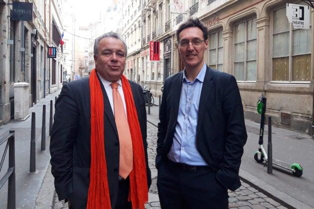 Denis Broliquier et Eric Lafond, le jour de l'annonce de leur union. ©LB/Rue89Lyon