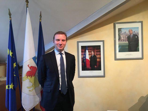 Alexandre vincendet, maire de Rillieux-la-Pape et président des LR du Rhône. ©Assia Mendi
