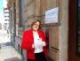 Françoise a voté à Lyon... avec des gants. ©LB/Rue89Lyon