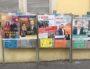 Un panneau d'affichage électoral place Guichard (Lyon 3è). ©Rue89Lyon