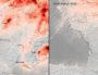Ces images utilisent des données du satellite Copernicus Sentinel-5P pour montrer les concentrations moyennes de dioxyde d'azote du 14 au 25 mars 2020, comparées à la moyenne mensuelle des concentrations de 2019. ©données de Copernicus Sentinel (2019-20), traitées par KNMI/ESA