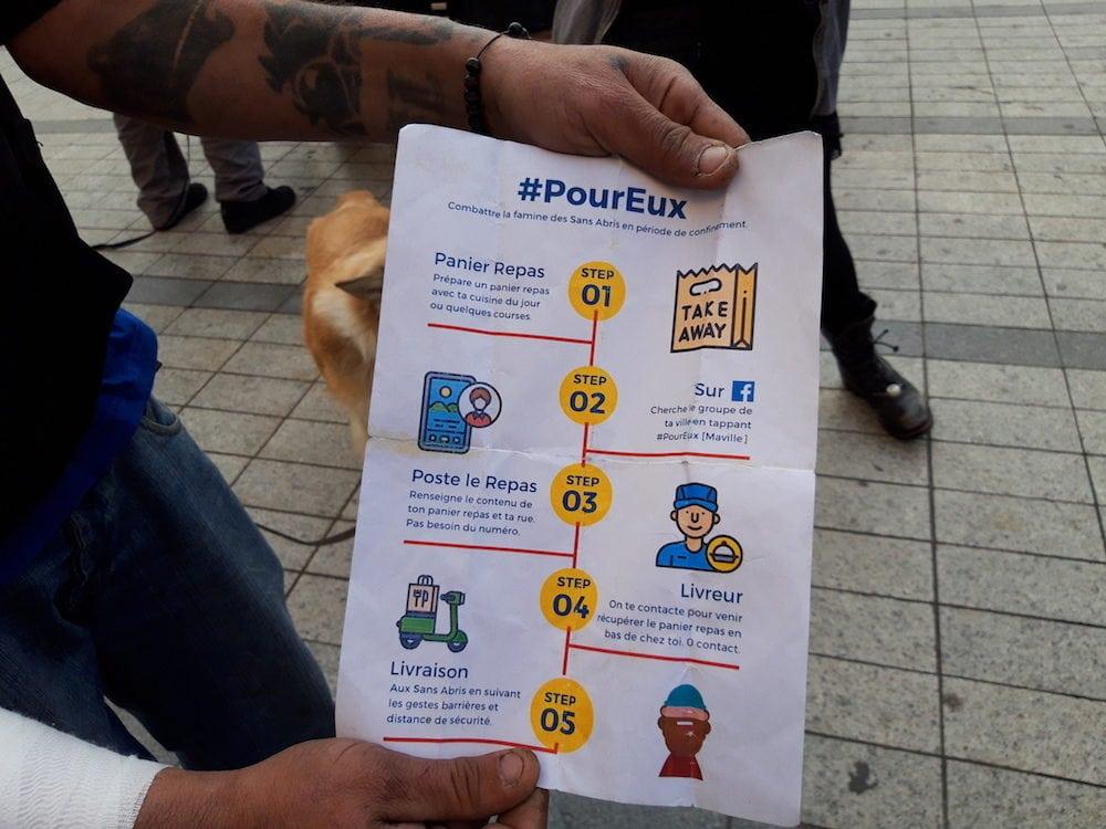 Le mouvement #PourEux propose aux confiné.es de préparer des repas pour les sans-abris.