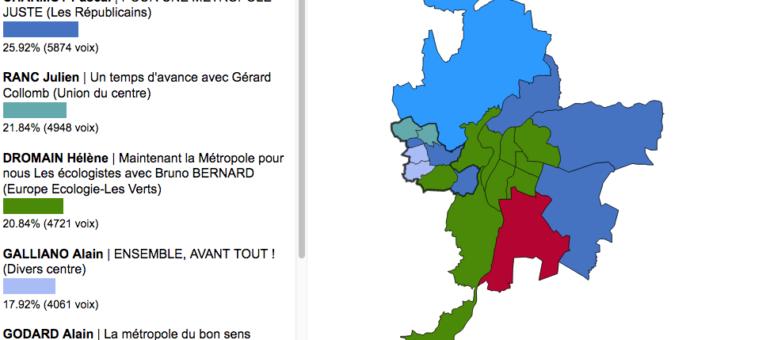 Résultats métropolitaines : le second tour à Lyon et dans la Métropole