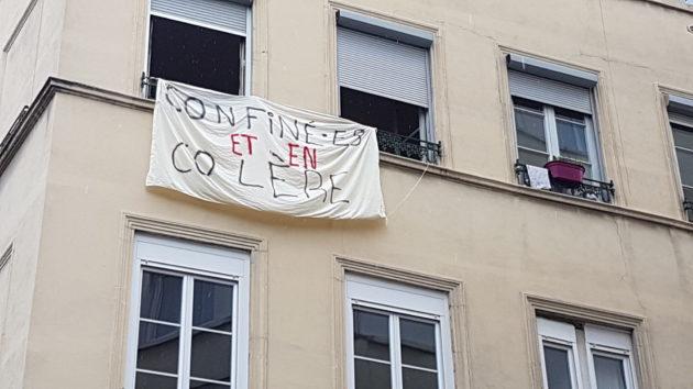 """""""Confiné.es et en colère""""."""
