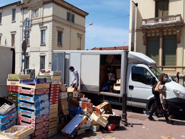 Le marché de Monplaisir a repris ce jeudi 7 mai. ©LB/Rue89Lyon