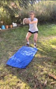 La handballeuse Lucile Roche ne lâche rien pendant le confinemen