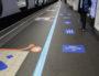 Le marquage au sol de la station de métro Part-Dieu le 11 mai 2020. ©CC/rue89Lyon
