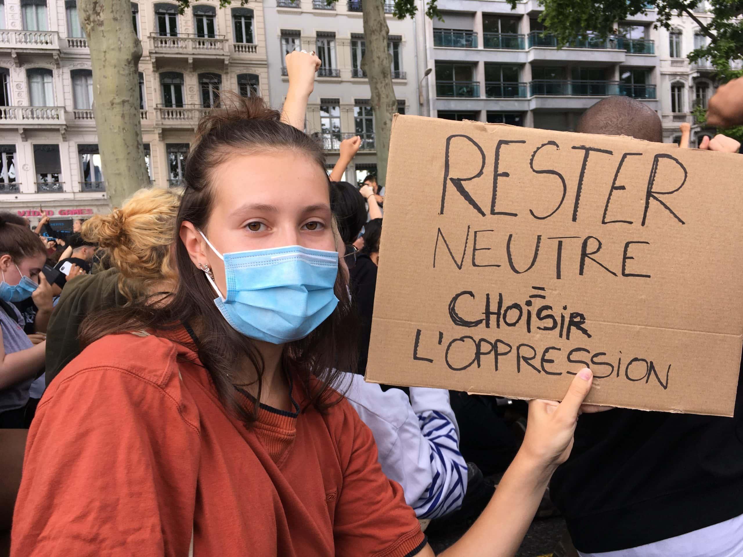 A l'avenir, Alice souhaiterait davantage participer à ce type de rassemblements, et continuer à soutenir les victimes d'oppression. ©AB/Rue89Lyon