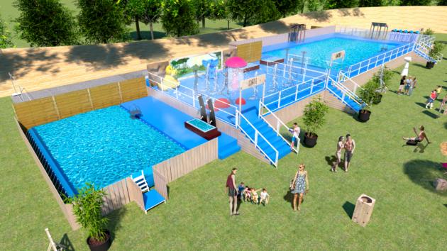 Visuel de la piscine qui sera installée à la Tête d'Or cet été.