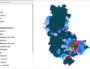 Carte des résultats des élections municipales dans le Rhône