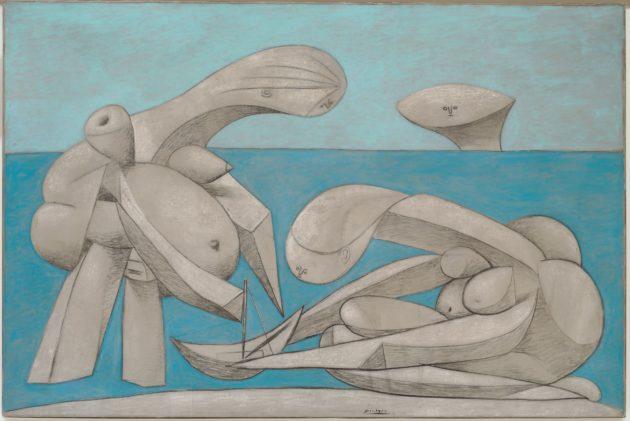 Tableau de Picasso, Femme assise sur la plage