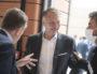 Bruno Bernard, nouveau président de la Métropole avec Grégory Doucet (masqué), nouveau maire de Lyon ©Houcine Haddouche/Rue89Lyon